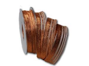 Weihnachtsband Bronzelines 25mm mit Draht
