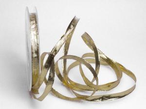 Weihnachtsband Goldband 10mm mit Draht