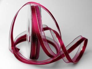 Weihnachtsband Toulon pink 15mm mit Draht - im Bänder Großhandel günstig kaufen!