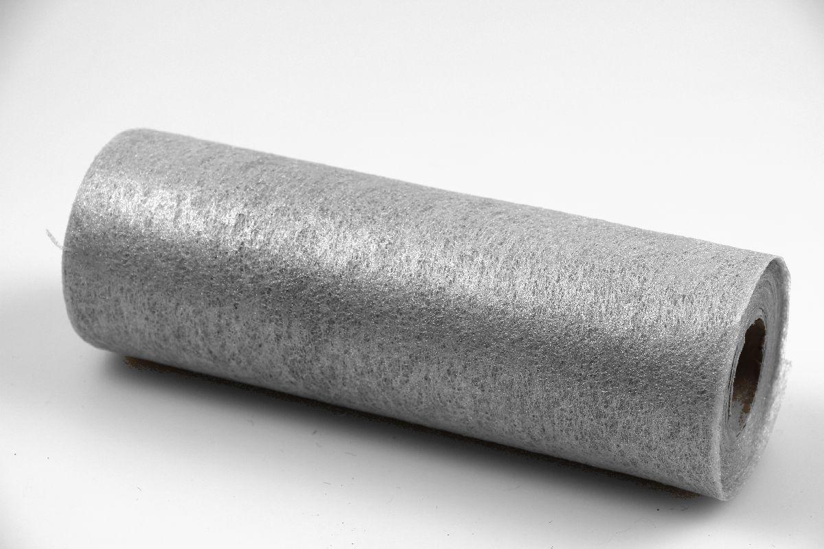 Tischband vlies 23cm silber ohne draht 230mm jetzt g nstig for Silberdraht kaufen